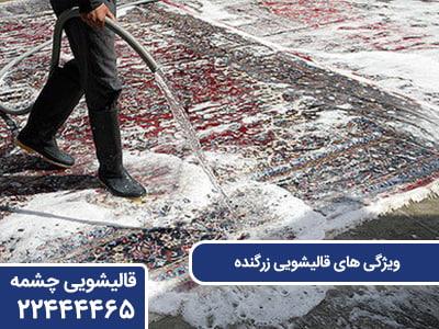 ویژگی های قالیشویی زرگنده