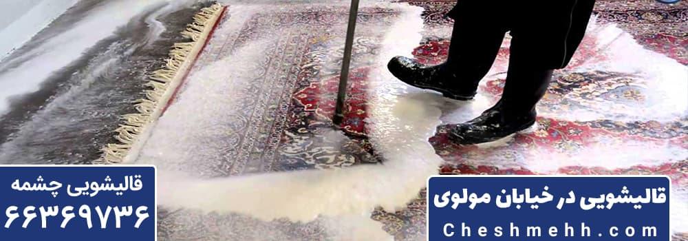 قالیشویی در خیابان مولوی